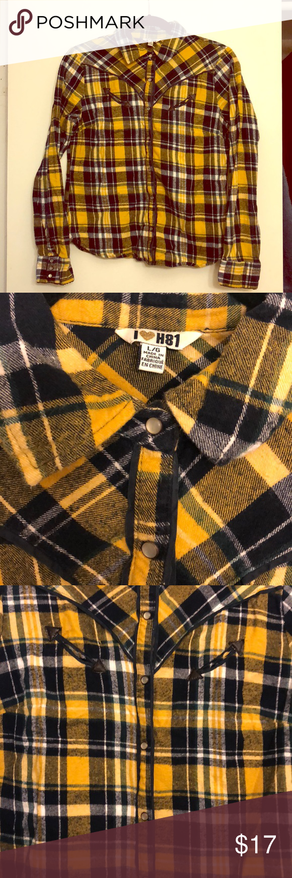 forever yellow blue and green flannel in my posh picks