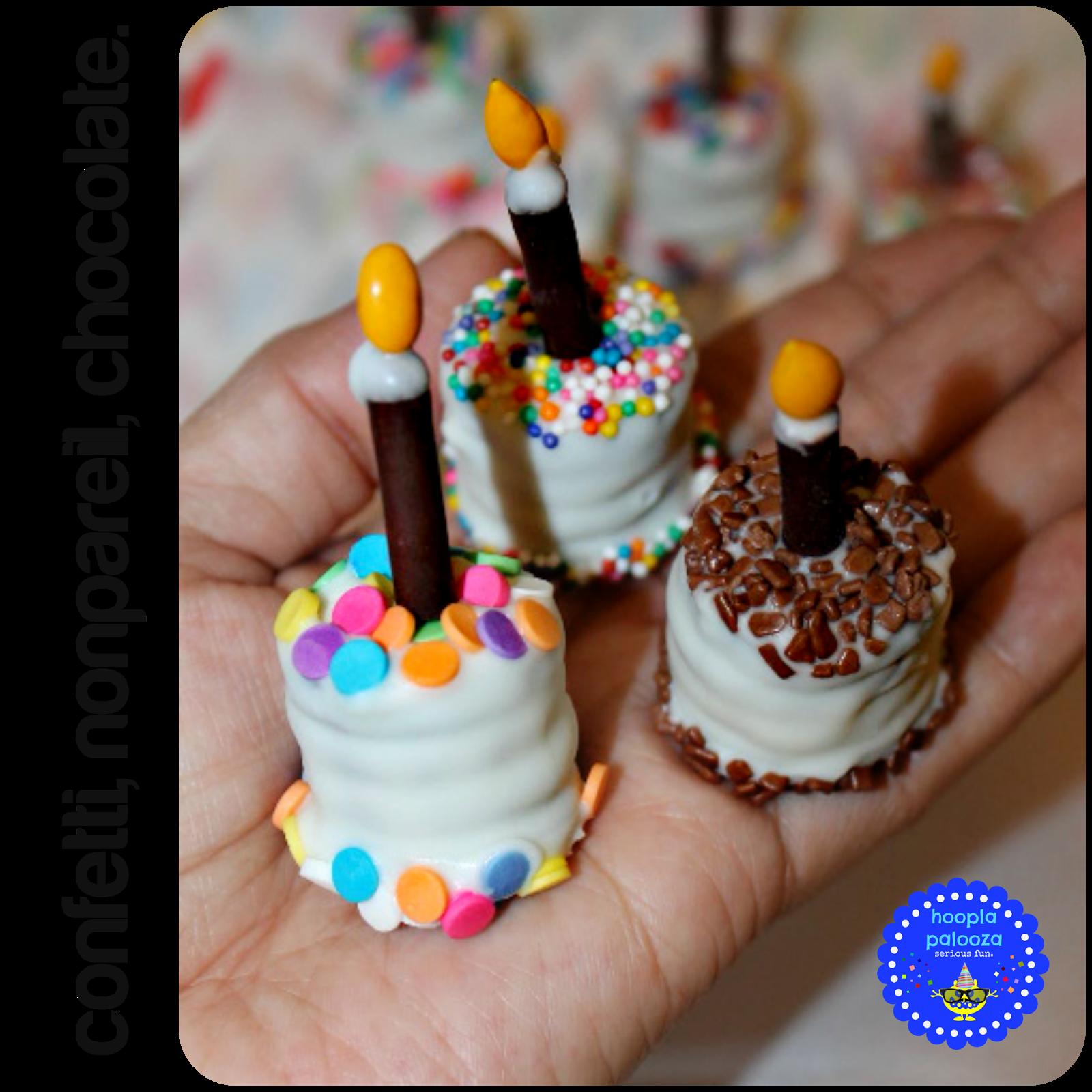 Bite Size Oreo Birthday Cakes