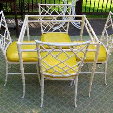 Kessler Cast Aluminum Faux Bamboo Chairs/Dining.