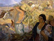 La cosecha - Saturnino Herran