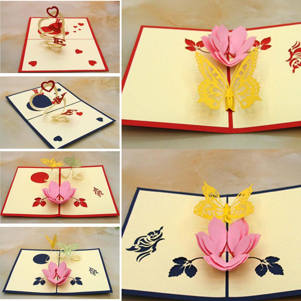 Valentineus day invitation cards lover greeting card handmade d pop