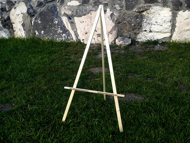 Large 57 Wood Easel Stand For Wedding Sign Floor Easel