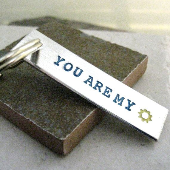 You+Are+My+Sunshine+Aluminum+Bar+hand+stamped+2+by+riskybeads,+$14.95