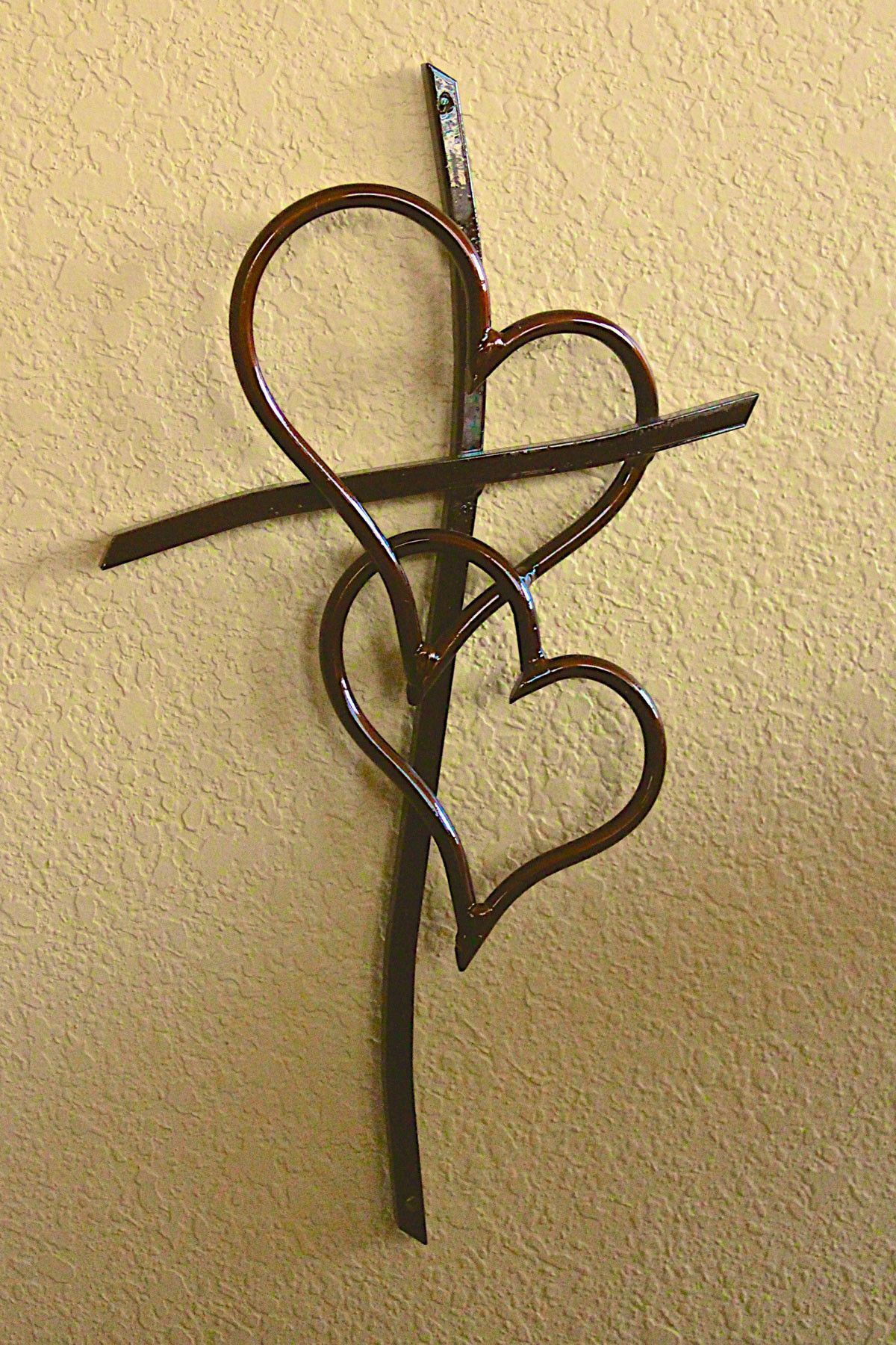 30 Inch Double Heart Cross Copper | 30th, Lead time and Steel