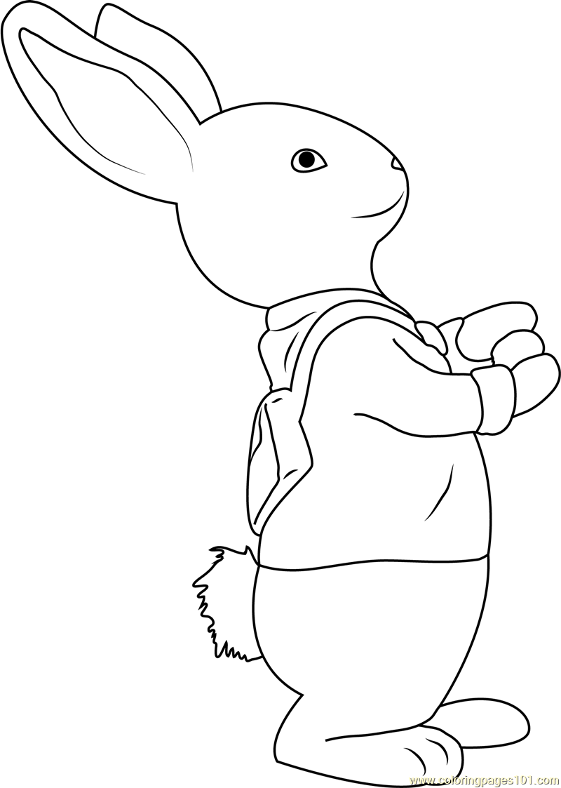 Peter Rabbit Coloring Page Coloring Pages Peter Rabbit Characters Cartoon Coloring Pages