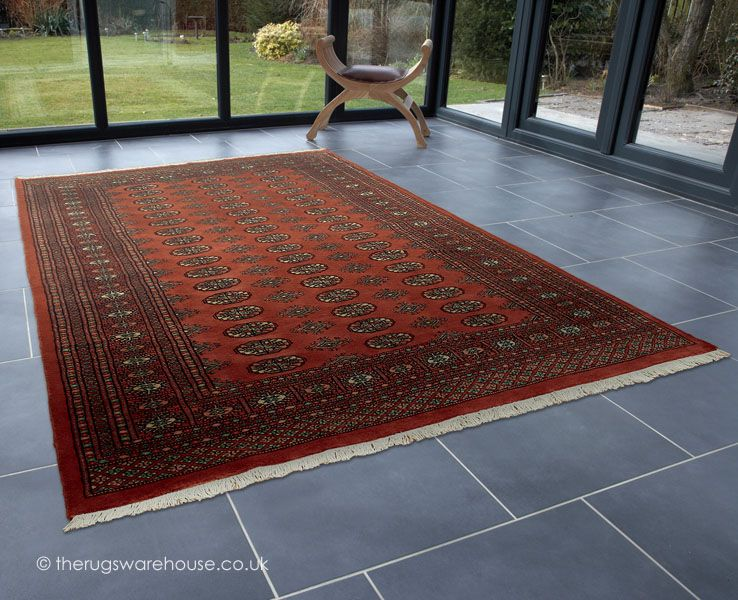 Bokhara Terra Rug A Luxurious Handmade Pure New Wool Featuring The World Famous
