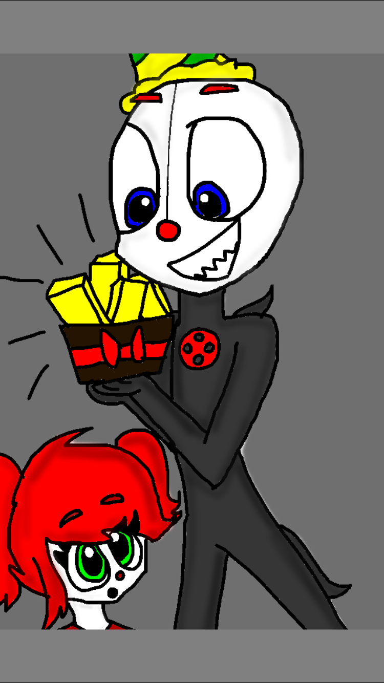Ennard, Baby, and EXOTIC BUTTERS! Drawn by ArtisticWolf ...