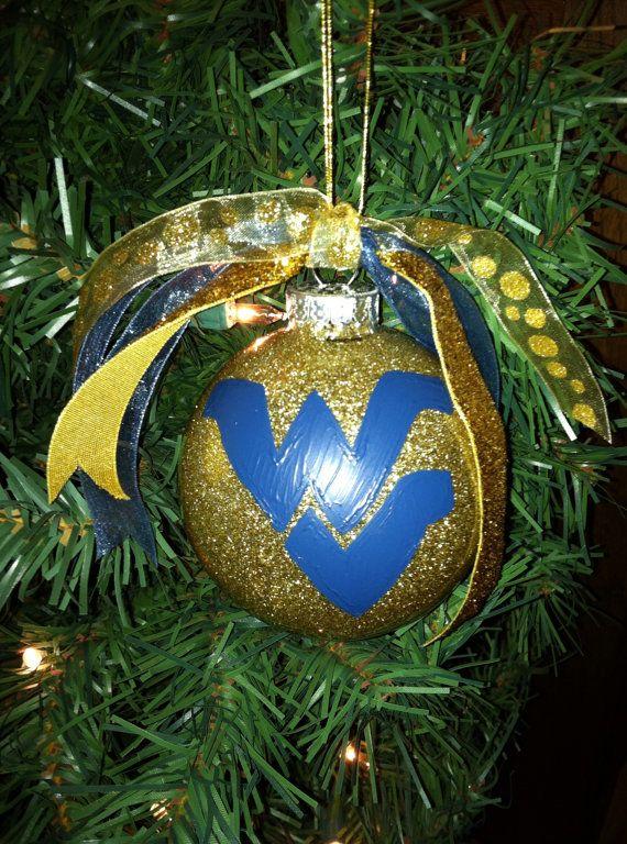 WVU Ornament by CamBCar on Etsy, $15.00 - WVU Ornament By CamBCar On Etsy, $15.00 Ornaments! Pinterest