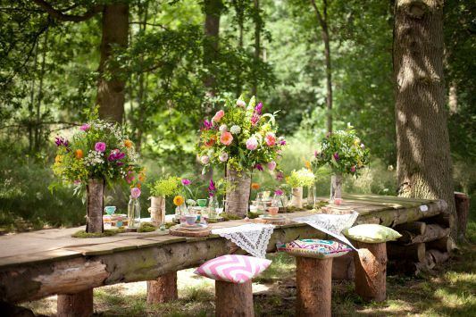 A Colourful Styled Woodland Shoot Glamping Country Estate Yorkshire