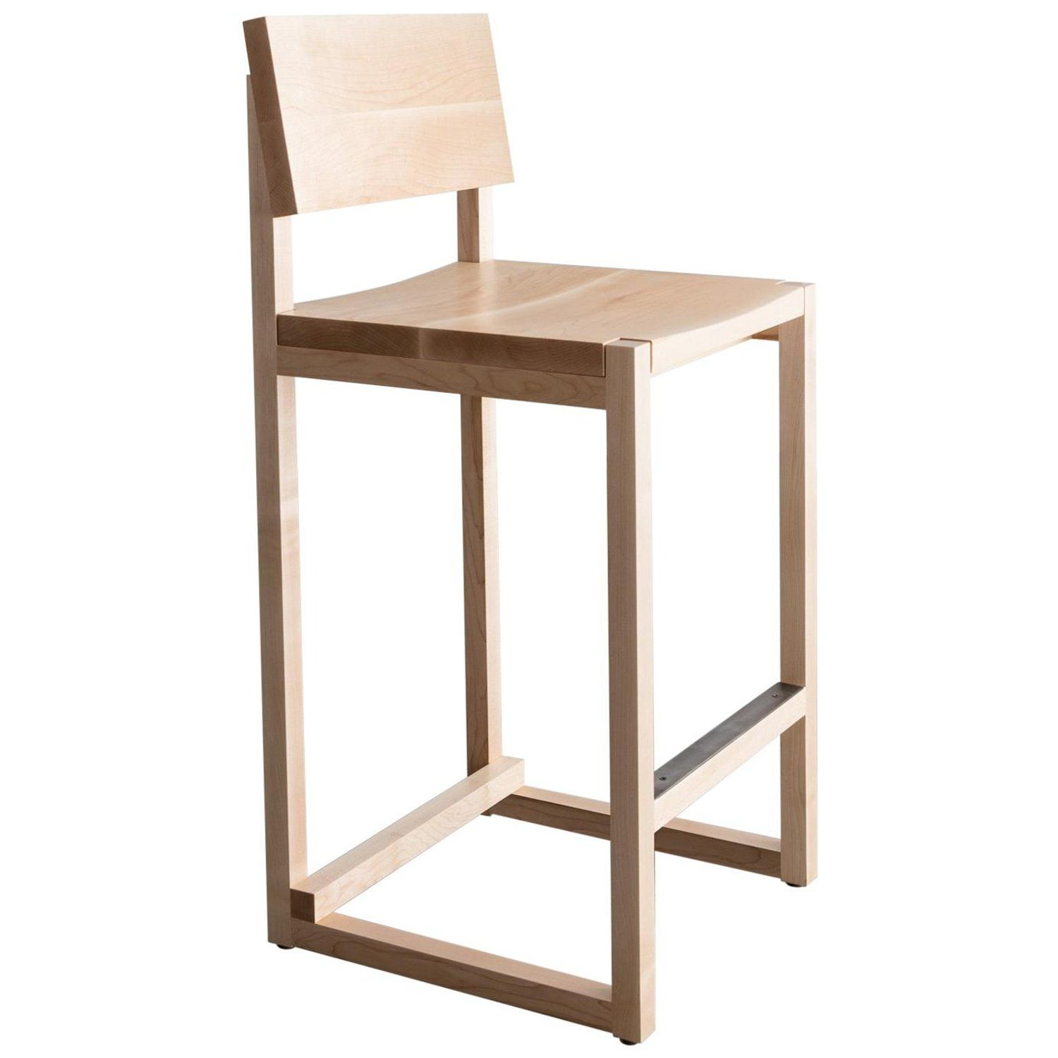 Sq Counter Stool Maple Hardwood Available In Bar Height