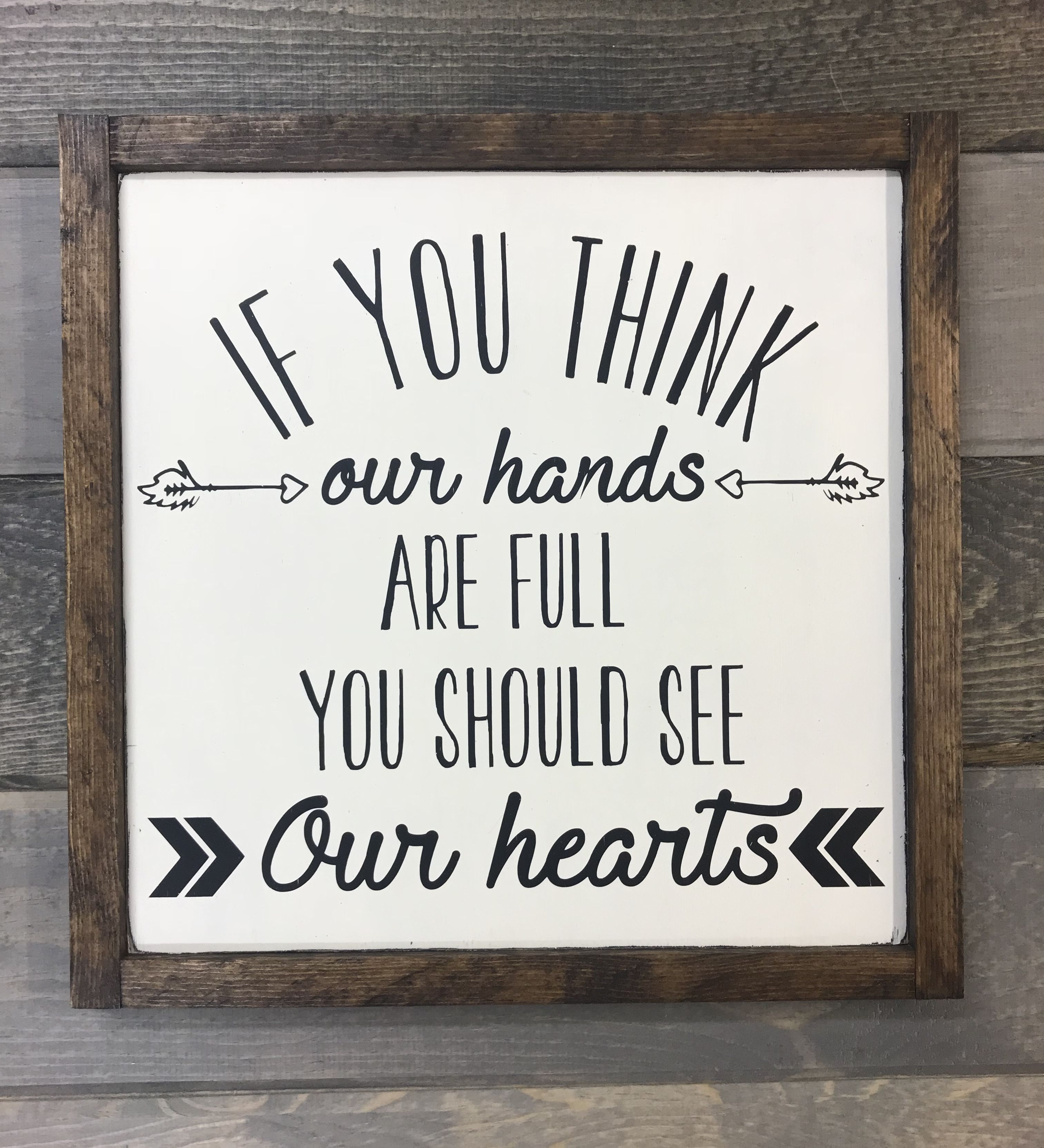 Cute farmhouse style sign with a frame inspirational