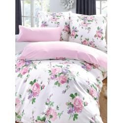 Photo of Duvet cover approx. 155x220cm, pillowcase approx. 80x80cm girlfriend home collection rose girlfriend home collect
