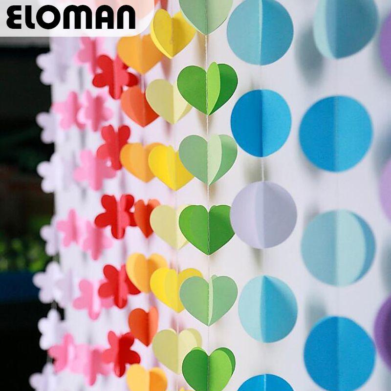 Romantic Rainbow Circle Round Paper Garland Party Wedding Banner Decoration US