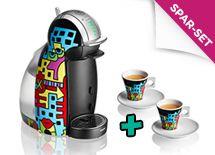 Bunte und knallige Kaffeekapselmaschine