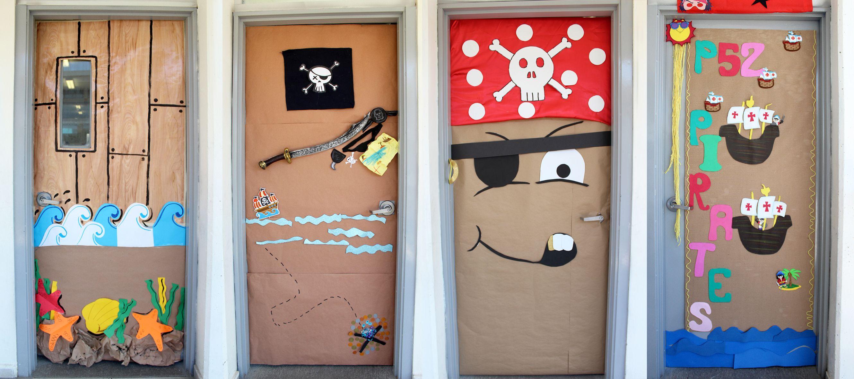 Cómo decorar puertas de piratas.   Piratas   Pinterest   Puerta de ...