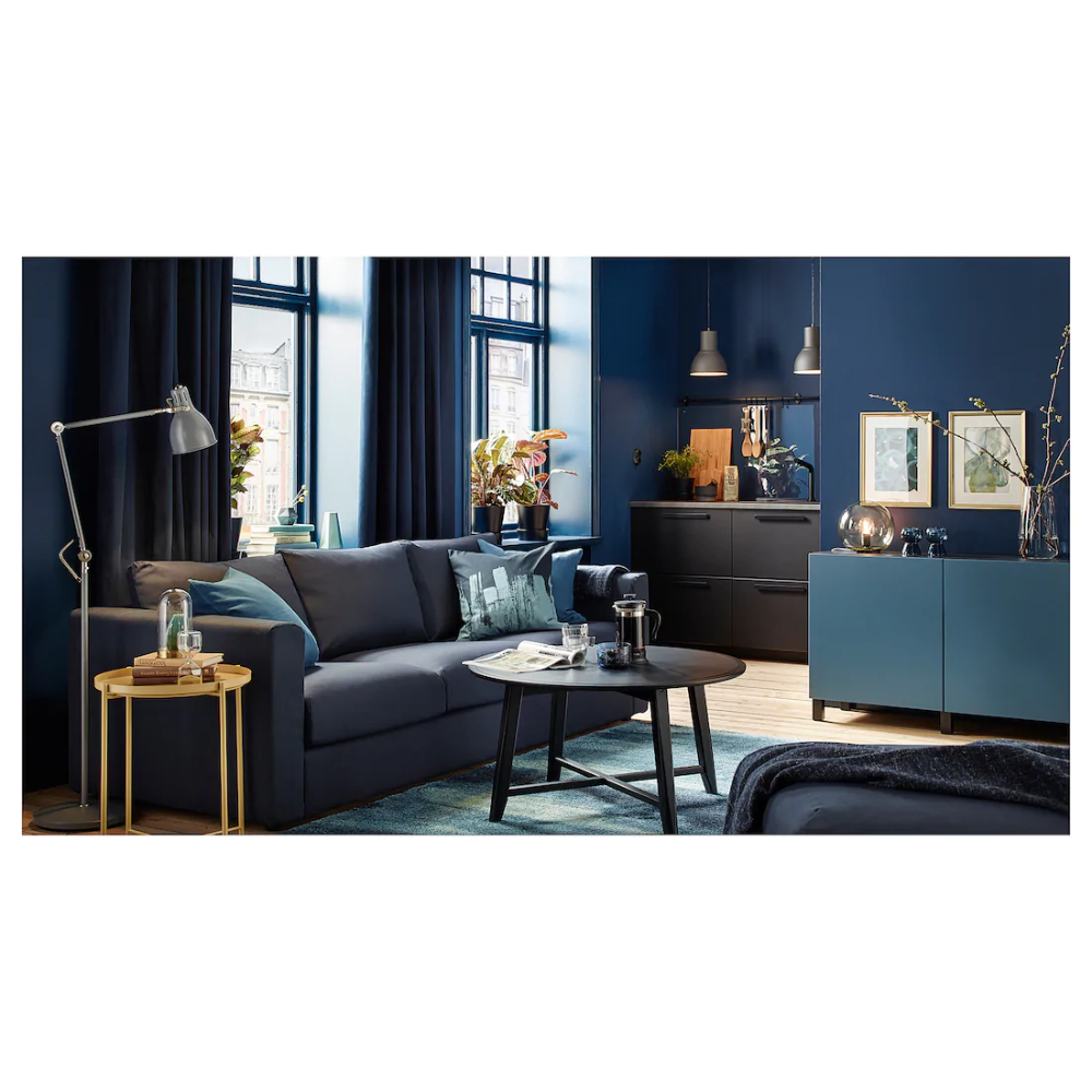 Kragsta Coffee Table Black 35 3 8 Ikea Blue Living Room Living Room Furniture Inspiration Paint Colors For Living Room [ 1000 x 1000 Pixel ]