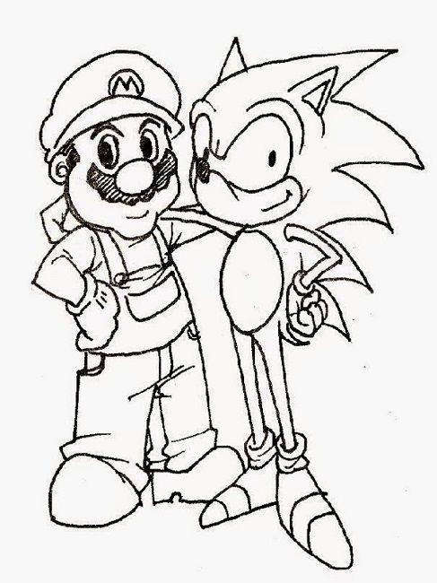 Mario Sonic Coloring Pages Print Pintura Para Criancas Desenhos Para Criancas Colorir Pintar E Colorir