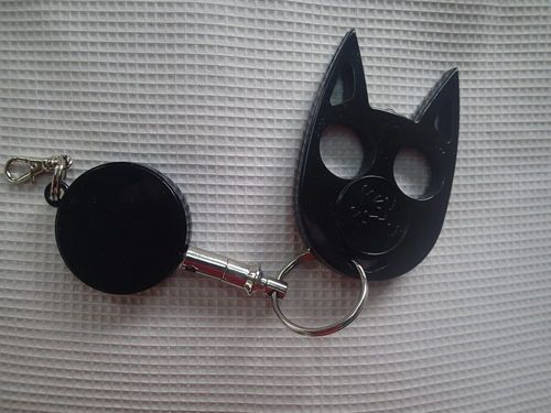 Self Defense Keychain Personal Protection Black Kitty Cat
