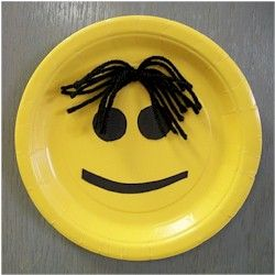 Easy Paper Plate Smiley Face Paper Plate Crafts Paper Plates Smiley