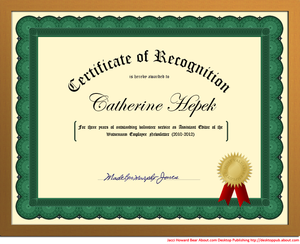 How Do You Set Up A Certificate Template In Word Create Certificate Certificate Of Recognition Template Make A Certificate