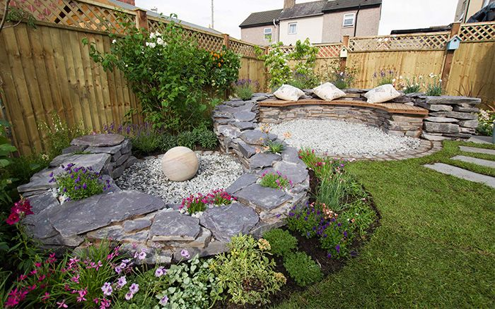 Image result for Landscaping your garden with stones