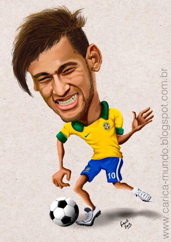 Resultado de imagen para caricaturas de neymar junior