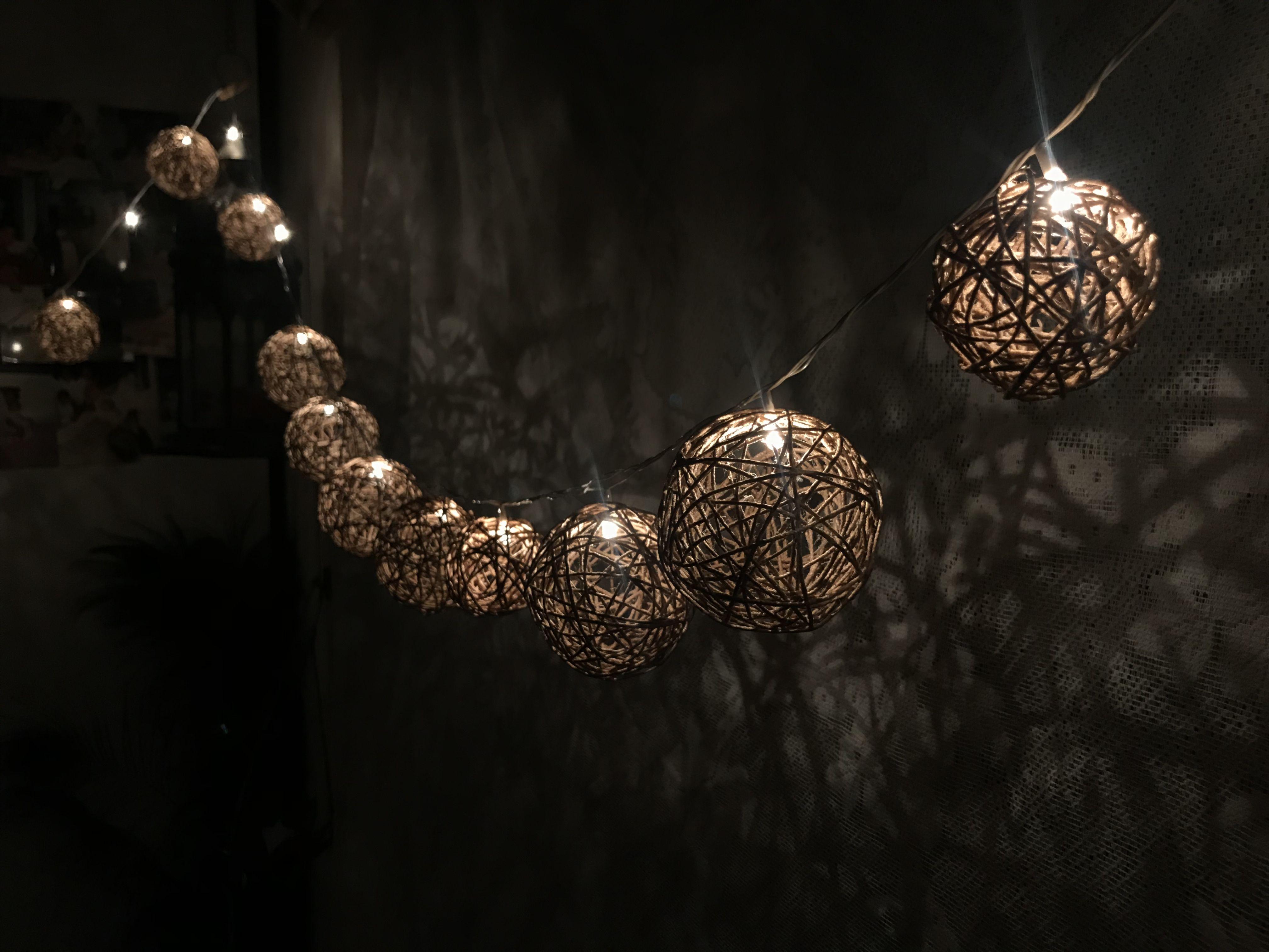 Hand Made Yarn Ball String Lights