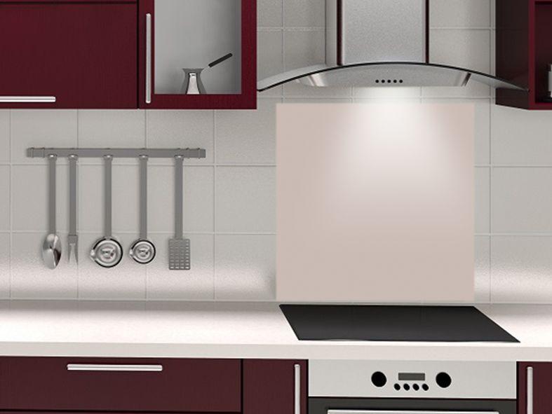 Fond de hotte couleur ARGILE - design-credence-decofr crédence - Leroy Merlin Faience Cuisine