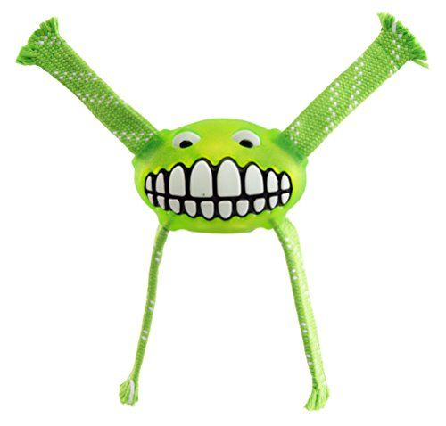 Rogz Flossy Grinz Dog Toy  Large  Lime >>> Click image to review more details.(This is an Amazon affiliate link)
