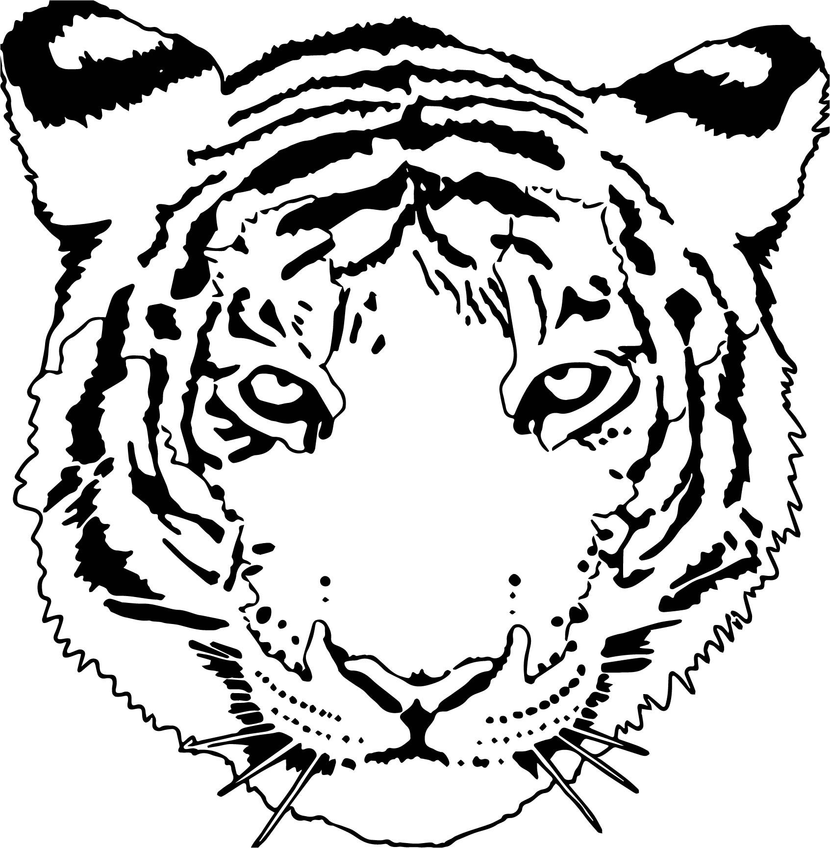 Tiger Face Coloring Pictures - PeepsBurgh