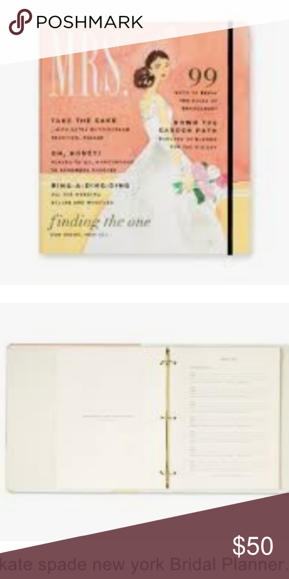Kate Spade Bridal Planner Mrs Magazine Nwt Boutique Bridal Planner Kate Spade Bridal Kate Spade Wedding