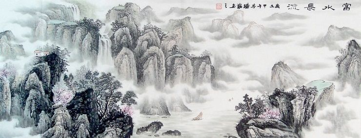 Artists Classic Best Painting Chinese Feng Shui Lucky Strike Large