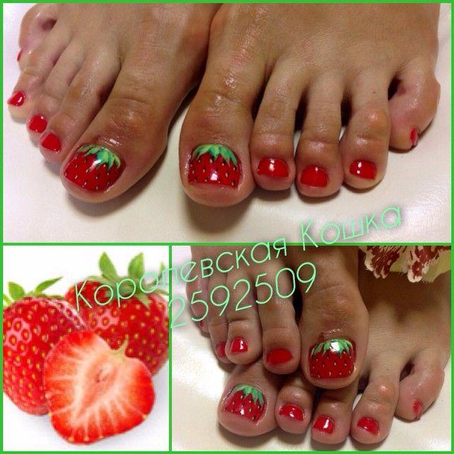 Pretty Pedicure Strawberry Toes Korolevskayakoshka Pretty