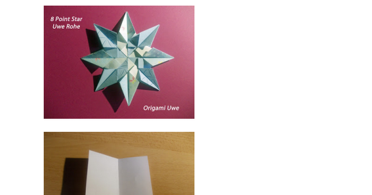 8 Point Star Diagrammpdf Origami 4 Pinterest