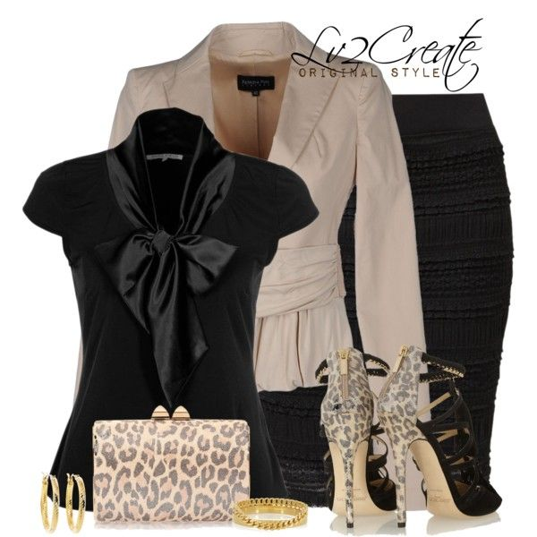 Black & Tan Sophistication, created by lv2create on Polyvore