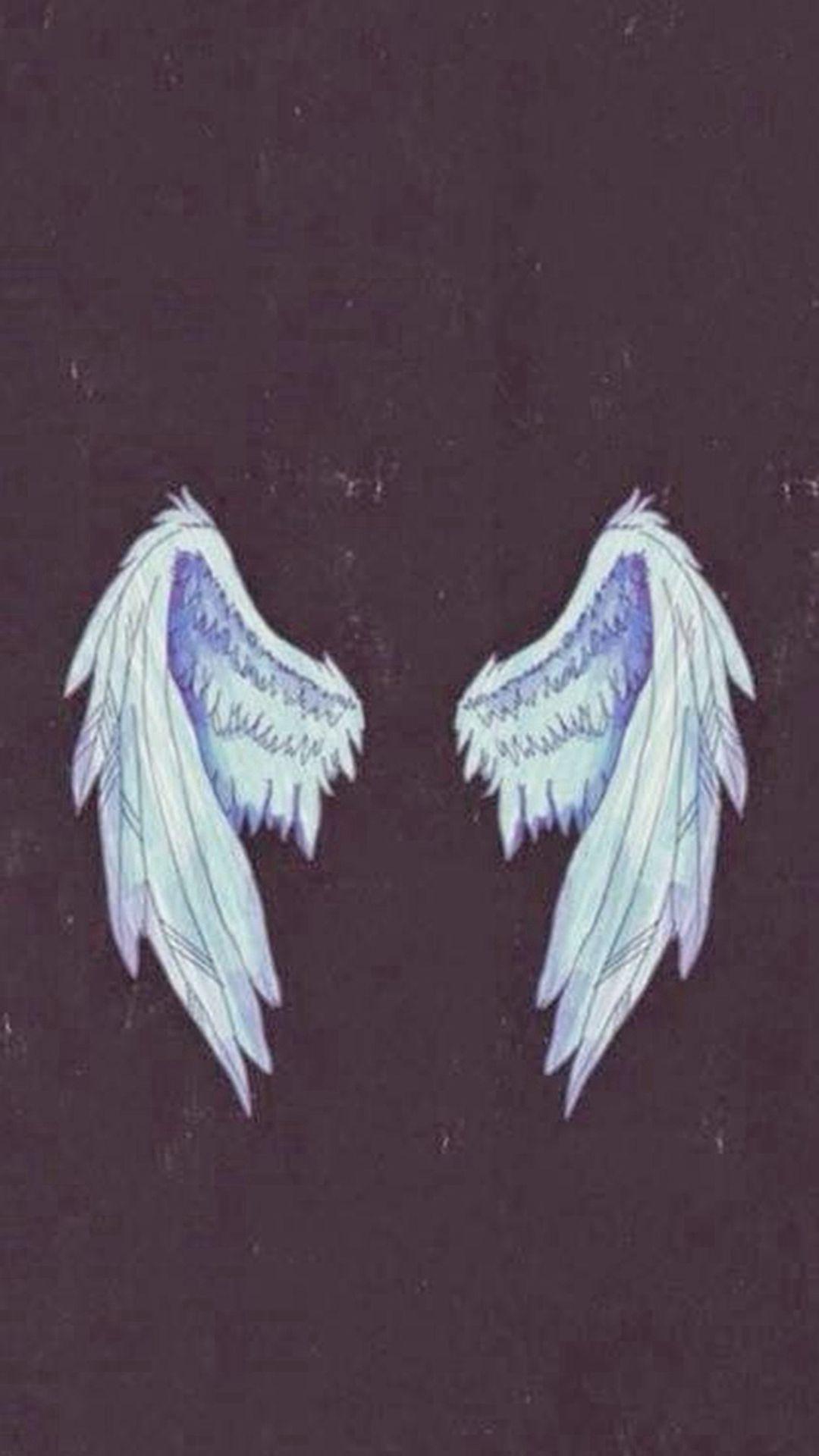 Angel Wings Illustration IPhone 6 Wallpaper