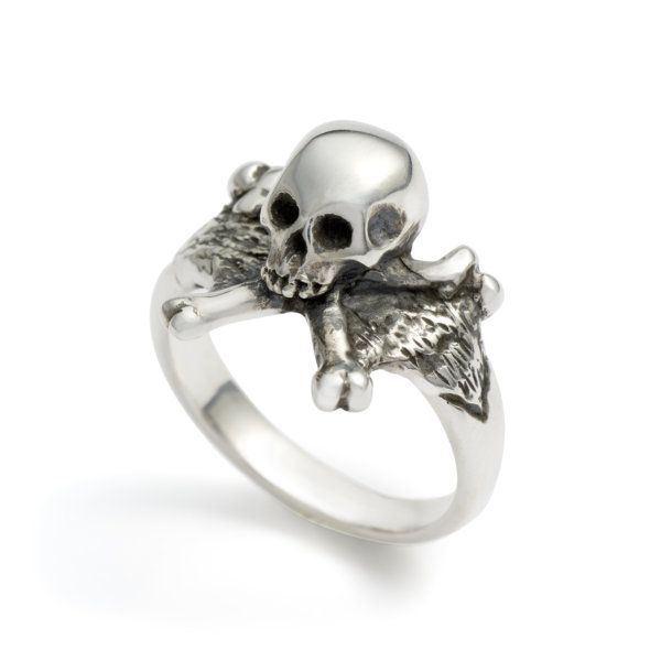 3d Skull Crossbones Ring Masonic Skull Ring Skull Jewelry Skull Ring