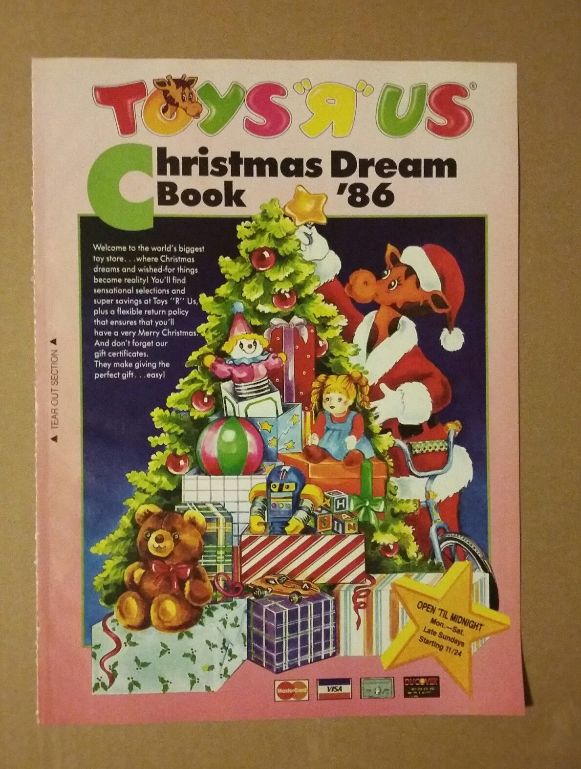 Christmas Toy Catalogs By Mail.1986 Toys R Us Christmas Dream Book Catalog Toys Mattel