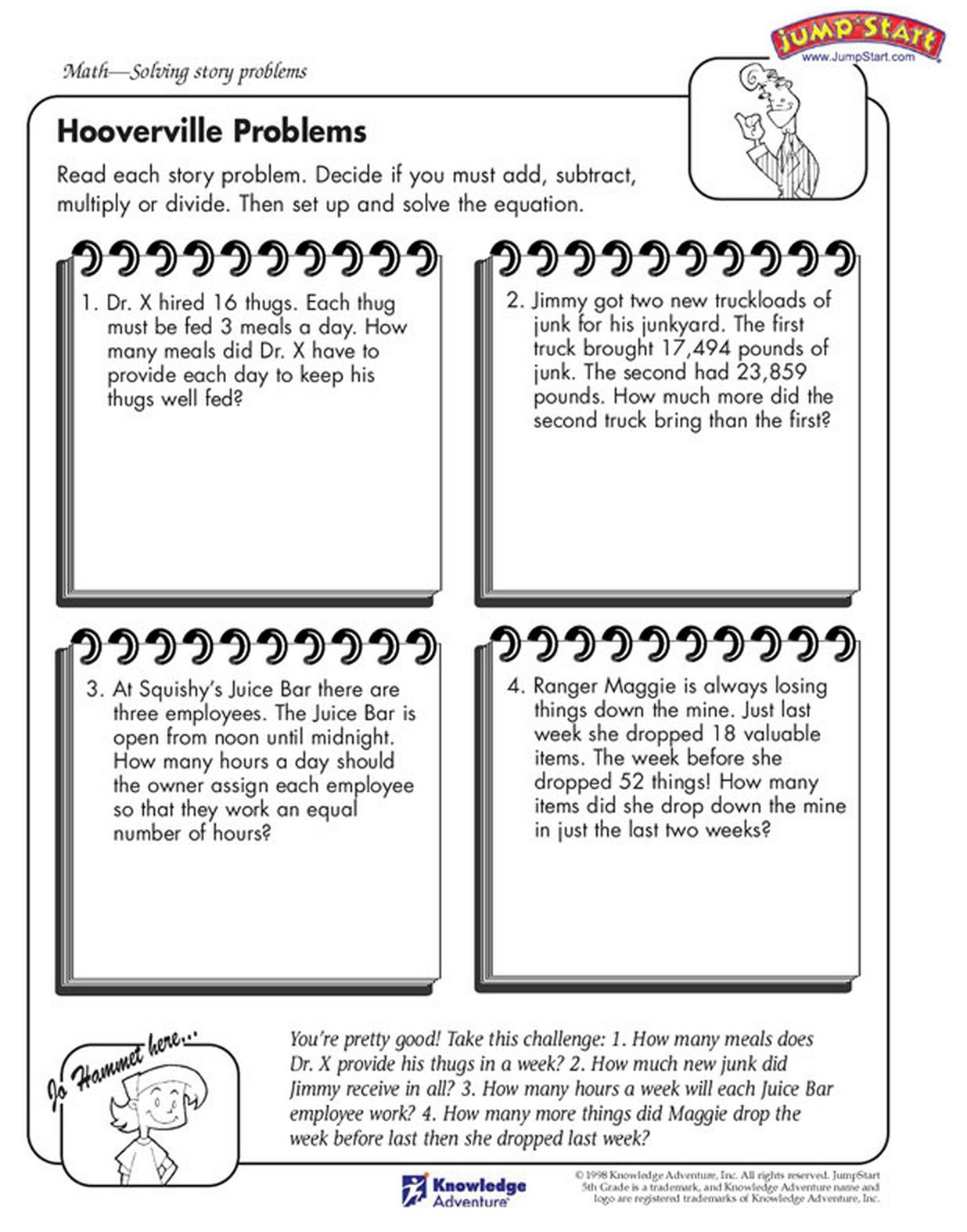 Solve these math stories! Math story problems, Kids math