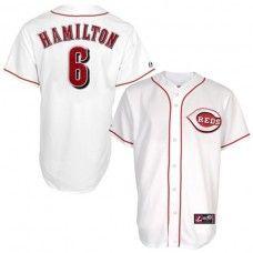 Cincinnati Reds #6 Billy Hamilton White Replica Baseball Jersey_Billy Hamilton Baseball Jersey