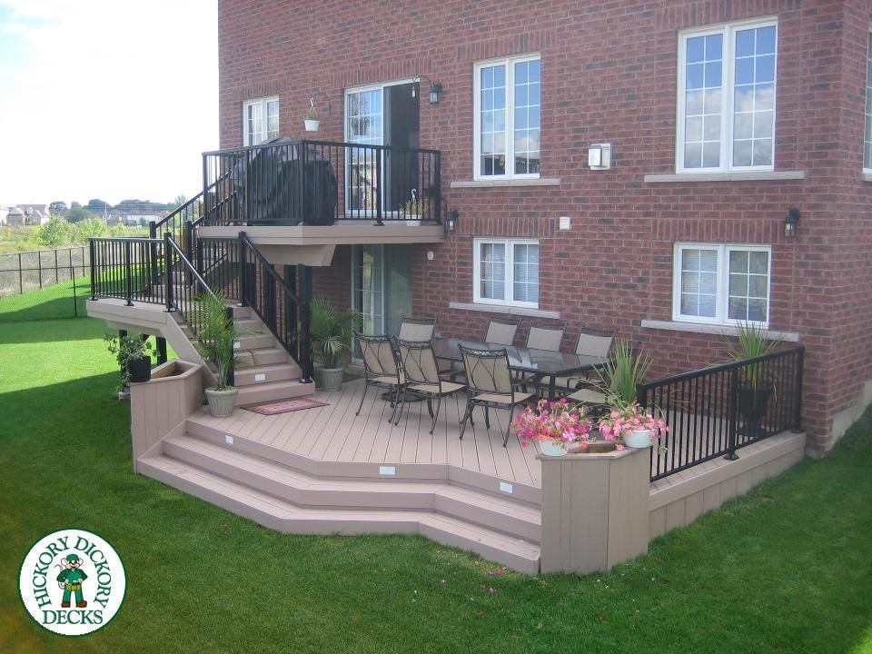 334 Sq Ft Code 2r6093 Building A Deck Deck Design Two Level Deck