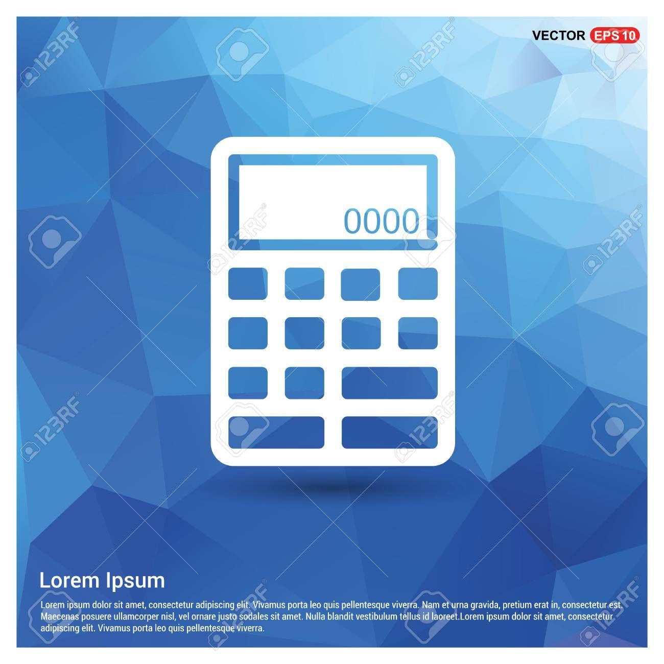 Electronic calculator icon affiliate electronic