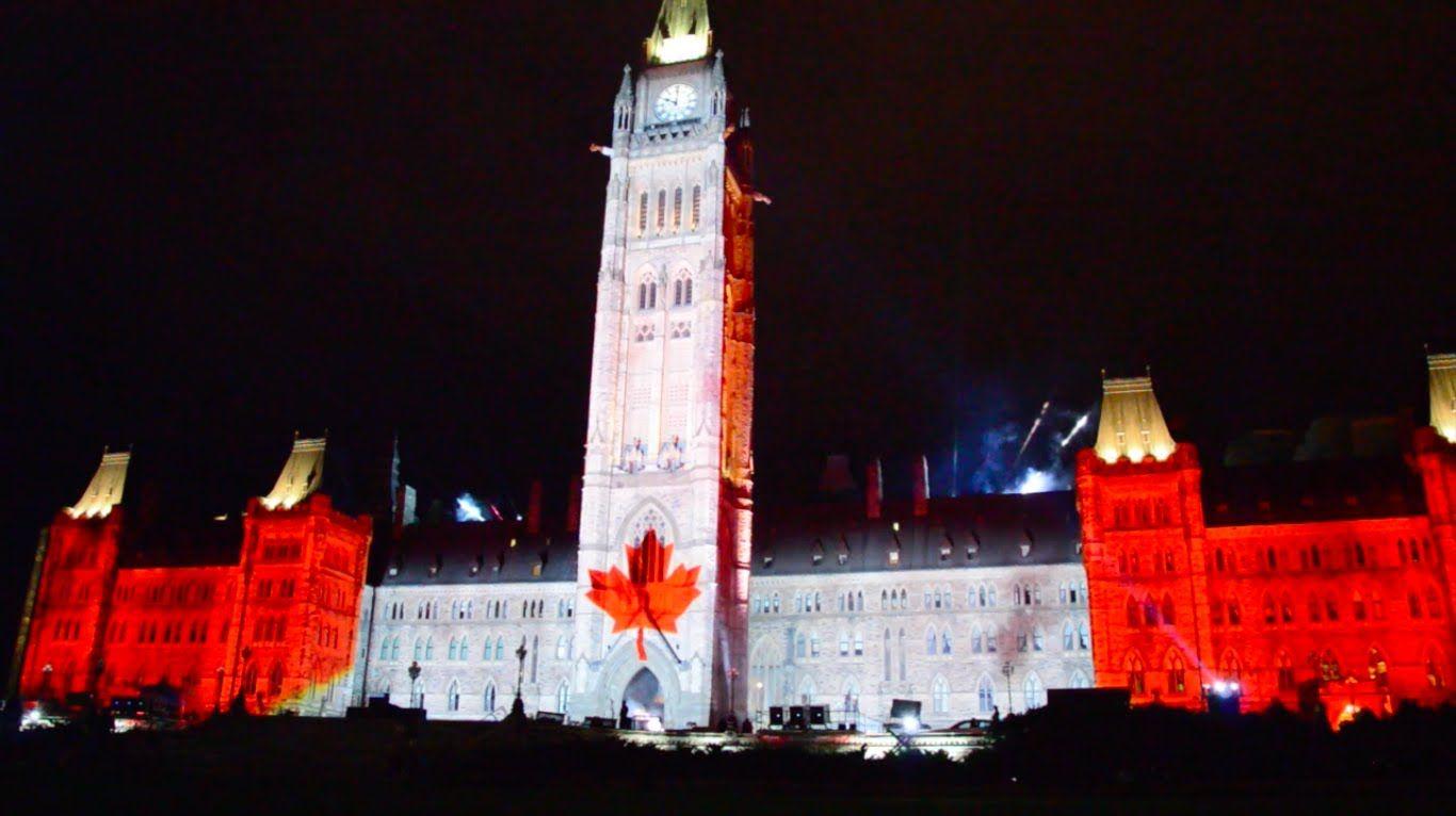 Ottawa Parliament Northern Lights Show Hd Summer 2017 You
