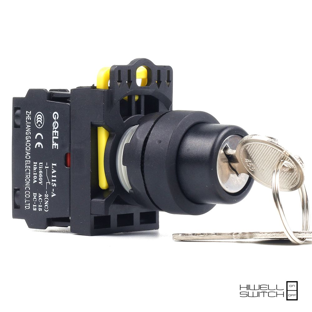 5 Pcs Push Button Switch Selector Switch Key Operated 2 Position Latching Or Momentary Ip40 La115 A1 11y Electrical Equipment Latches Electricity