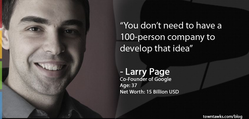 google cofounder larry page startup quotes