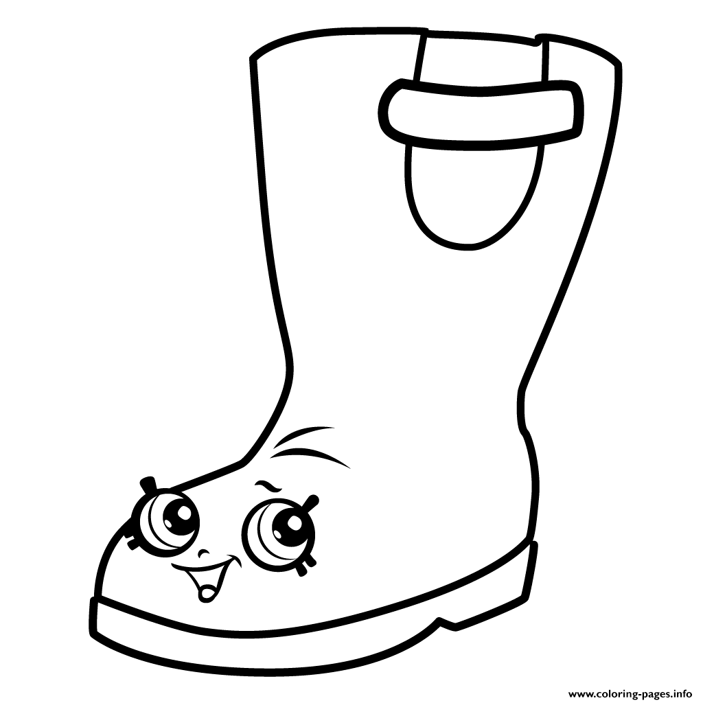 Print Rain Boots Jennifer Rayne Shopkins Season 3 Coloring Pages
