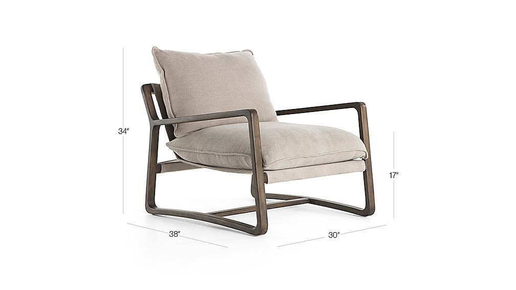Polly Ivory Accent Chair Crate And Barrel In 2020 With Images