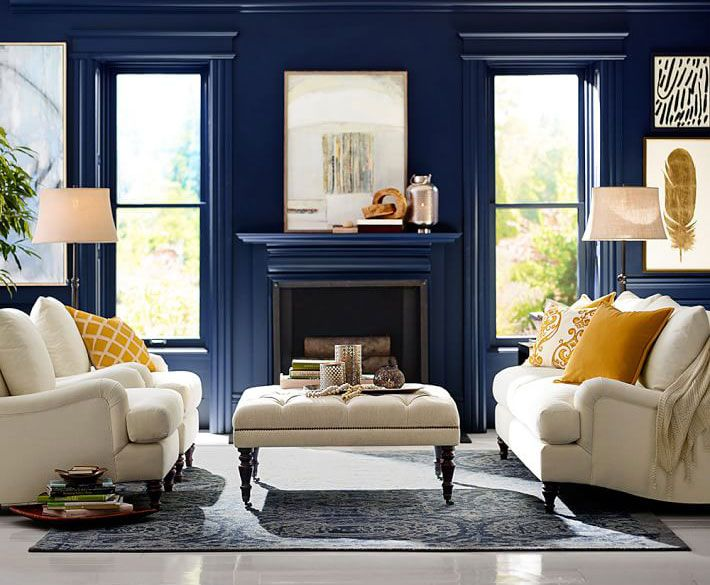 Pottery Barn Furniture Outlet Blue Living Room Living Room Color Blue Rooms