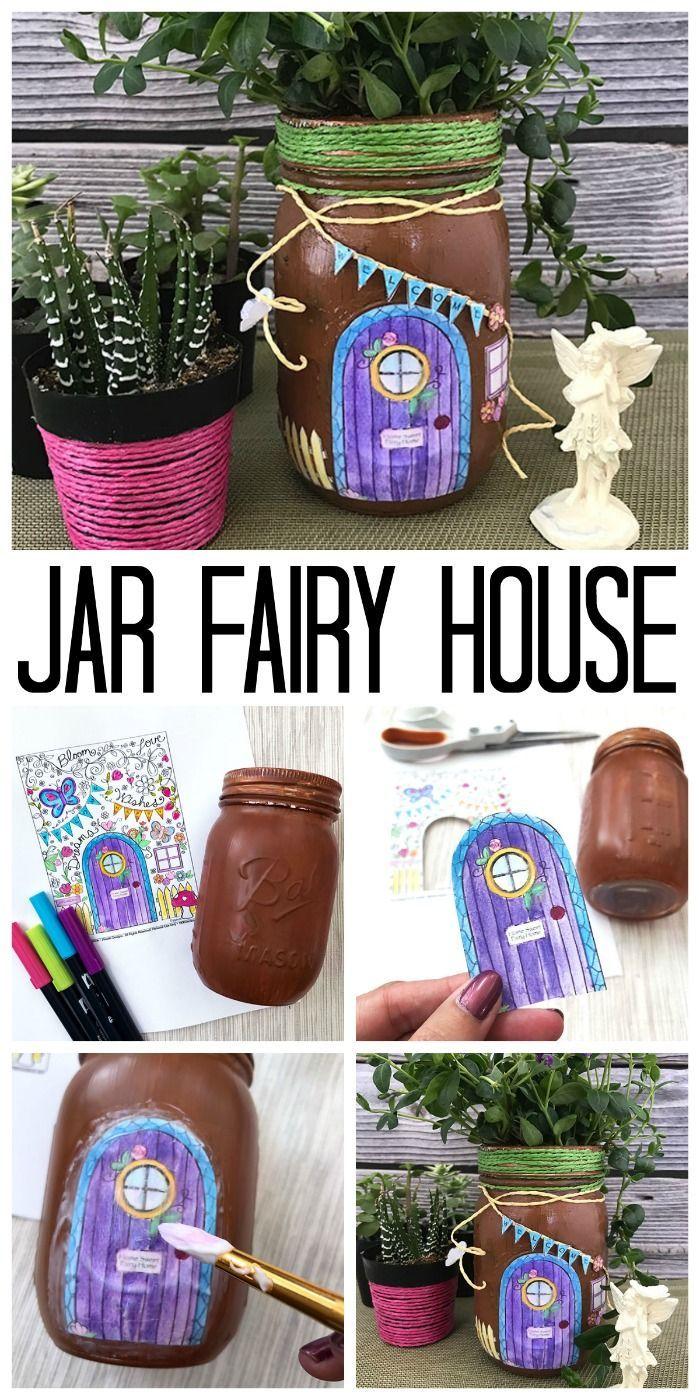 DIY Mason Jar Fairy House images
