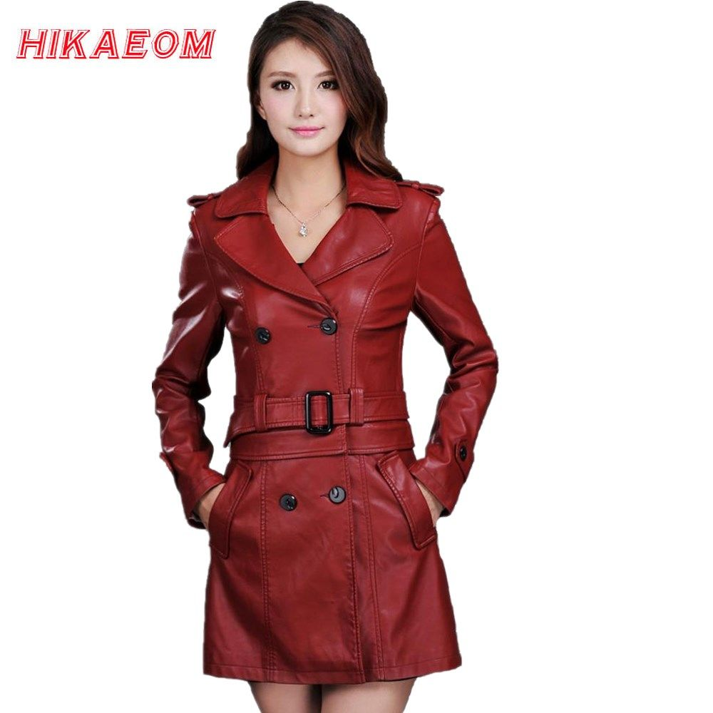 free shipping] buy best leather jacket women top fashion new plus